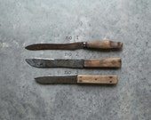 Antique Steel Knives, Rustic Vintage Wooden Knives,  Kitchen & Dining, Cutlery and Knives