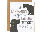 A Companion is Gone, but the Memory Lives On Illustrated Card//1canoe2