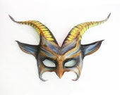 Leather Goat Mask  a Little Impish and Freaky gothic dark carnival