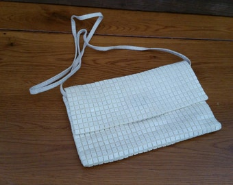 Vintage White Sequined Regale Purse