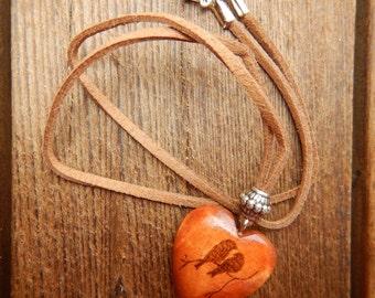 Wooden Pendant, Love Birds