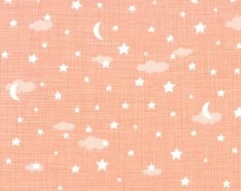 Moda Fabrics Lullaby 13154 17 Peach Night Sky By The Yard