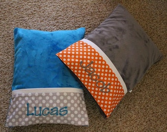 Minky Travel Pillows - Personalized Pillow - Kindergarten Pillow - Travel Pillow - Nursery Pillow - Toddler Pillow - Travel Pillow