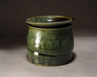 Stoneware Pottery Dip Chiller / Cool Dip Pot for Serving by Jon Whitney
