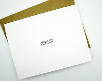 Friendship Card- Problems