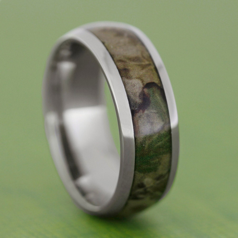 s camo wedding band titanium ring inlaid by jewelrybyjohan