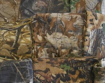 CAMO camouflage cotton t-shirt & 1x1 rib knit fabric realtree advantage mossy oak