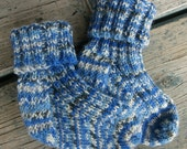 Wool Socks in Honolulu Blue - Go Lions! Socks for little feet!  Toddler socks. - Clearance Sale