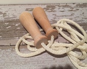 Toy - Jump Rope - 8 ft  - Wooden Toy Jump Rope with Natural Handles