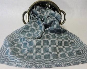 Handwoven Cotton/Linen Towel for Kitchen & Bath -  Blue Towel - Handtowel, Kitchen Towel, Handwoven Towel, Tea Towel, Breadcloth#16-16 gr/bl