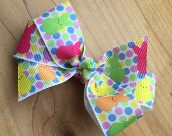 """Easter """"Peeps"""" Hair Bow, Easter Party, Easter Birthday, Easter bunny Party Favor, Easter Bunny Present"""