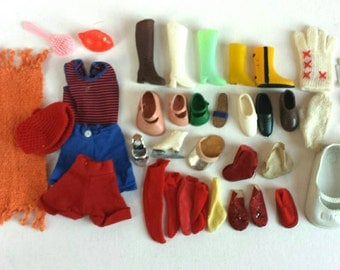 Vintage Doll Accessory Leftovers Boots Shoes Socks