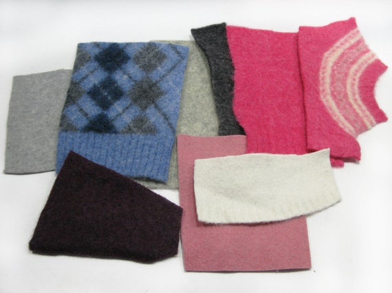 Felted Wool Sweater Pieces For Your Fiber Art Projects - Argyle ...