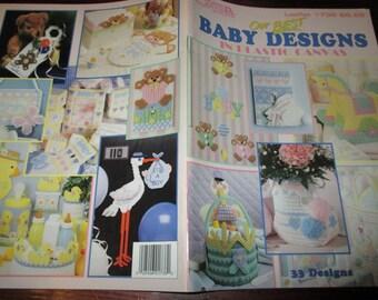 Plastic Canvas Patterns Our Best Baby Designs Leisure Arts 1738 Plastic Canvas Pattern Leaflet