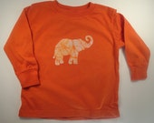 Just For Julie, Pumkin Elephant and Purple Giraffe Long Sleeve Toddler Tee Size 2T