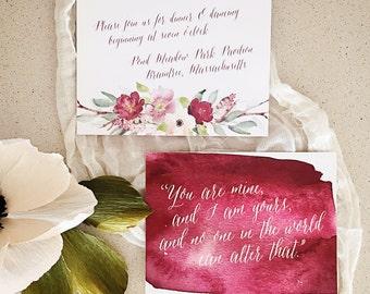 A La Carte Wedding Elements: A6 Enclosure