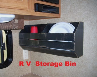 RV Camper Glamping Wall Storage Bin