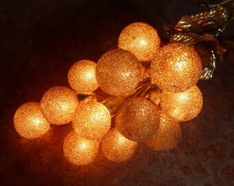 Vintage Golden Lighted Grape Cluster Ornament