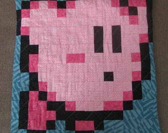Kirby Quilted Pillow Cover - free USA shipping