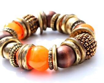 Orange Glow Bracelet