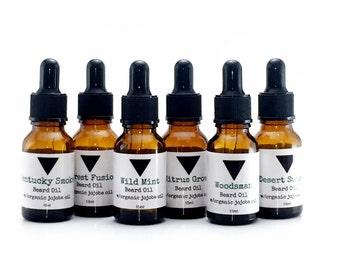 Beard Oil, Beard Conditioner, 6 Scents, Men's Beard Grooming