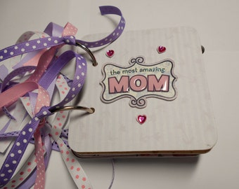 Mother Mini Scrapbook Album, Mother Mini Album, Mother Scrapbook, Mother Photo Album, Mother Brag Book, Mom Album, Mother Album, Mom