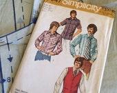 5047 Simplicity 1972 Men's Shirt and Vest Pattern
