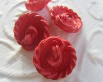 Vintage Buttons - Cottage chic matching lot of pink novelty, old and sweet, 4 (mar 178)