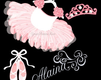 Personalized Artwork Ballerina