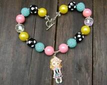 Ashlynn Ella, Ever After High Inspired Chunky Bubblegum Bead Necklace, Cinderella, Lizzie Hearts, 20mm Beads, Custom Pendants