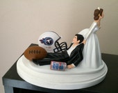 TENNESSEE TITANS Cake Topper Bridal Funny Humorous Wedding Day Football  team   Hair color changed for free