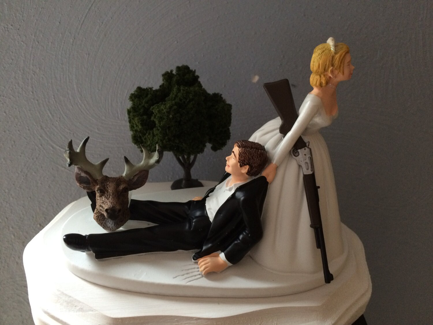 Cake Topper Funny Bridal Wedding Day Bride Groom Going Gone