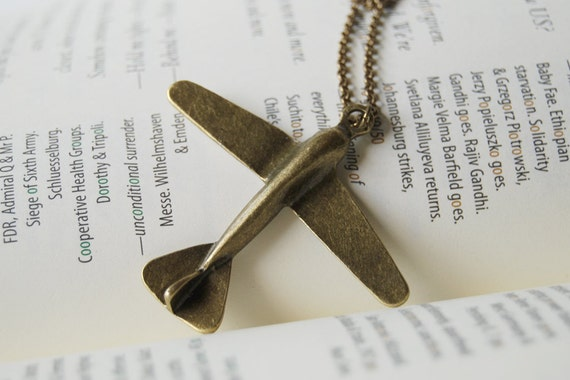 Come Fly With Me - Large Airplane Necklace - SALE! -