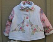 Size 3 Baby Girl Embroidered Jacket Coat