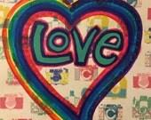 Rainbow Heart of Love