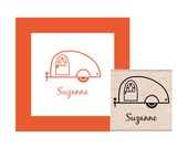 Camper Teardrop Trailer Personalized Rubber Stamp