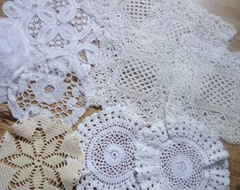 collection of small doilies RESERVED