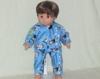 American Girl Bitty Baby Twin Boy Doll Pajamas Monkey Business
