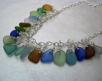 Assorted Sea Glass Colors - Stunning Sea Glass Necklace - Beach Glass Necklace - Beach Glass Jewelry