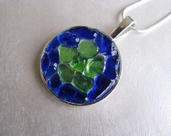 Sea Glass Jewelry - Cobalt Blue - Sea Glass Necklace - Beach Glass Jewelry