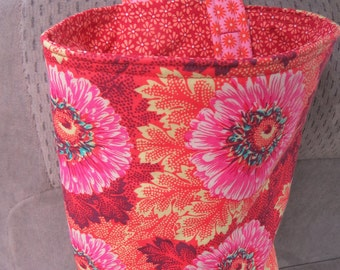 Trash Bin, Car Trash Bag, Cute Car Accessories, Headrest Bag, Trash Container, Flowers and Leaves