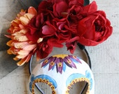 Estrella III - Spectre Inspired Day of the Dead Masquerade Mask and Headdress Set