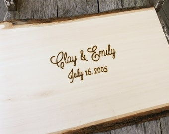 Wedding Guest Book Alternative - Wedding Wood Slice - Rustic Wedding Guest Book - Wedding Guestbook - Rustic Guestbook Alternative