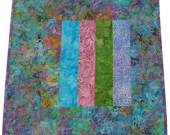 Table Topper Quilt in Multicolored Batik