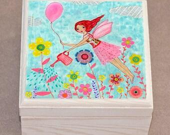 Cute Girls Jewelry Box Trinket Box for Children Decor - Garden Fairy