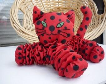 Yo Yo CAT baby kitten nursery room decor fabric quilt  gift