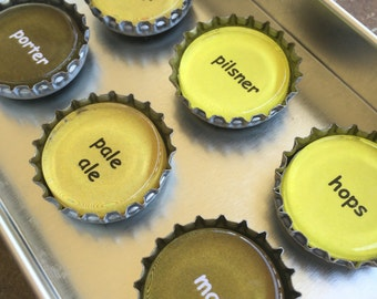 Beer Here - bottlecap magnet set