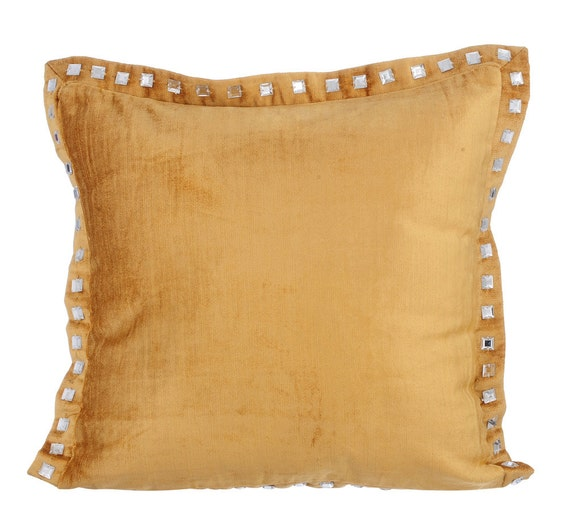 gold couch cushion covers 16 x 16 pillow covers velvet crystal. Black Bedroom Furniture Sets. Home Design Ideas