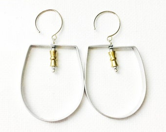 Gold and Silver Swing Earrings