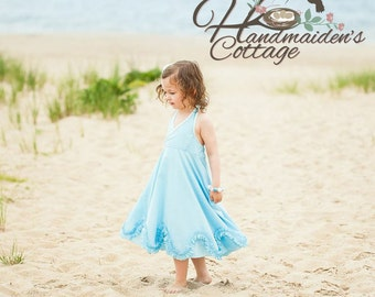 Madelyn Halter Dress PDF pattern Sizes 2T through size 10